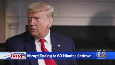 صورة ترامب ينشر فيديو انسحابه من مقابلة تليفزيونية