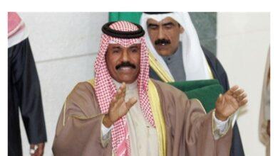 صورة أمير الكويت يوجه رسالتين للملك سلمان والأمير تميم