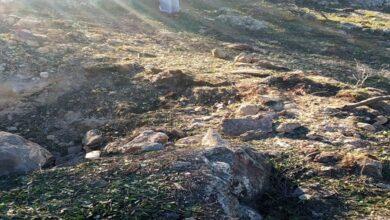 صورة سقوط شظايا صاروخية في الوهادنة بعجلون