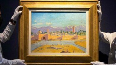 """صورة أنجلينا جولي تبيع لوحة """"جامع الكتبية"""" لتشرشل بـ7 ملايين جنيه"""