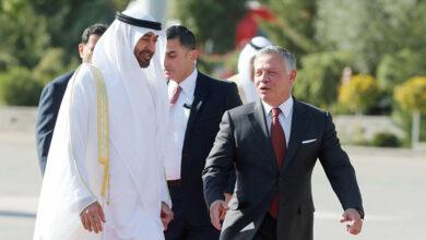 صورة ولي عهد ابو ظبي مهنئا بمئوية الدولة الاردنية  : أخلص التمنيات بدوام الاستقرار والتنمية