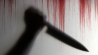 صورة جريمة بشعة تهز مصر.. جزار يذبح زوجته بالشارع من الرقبة لنهاية البطن