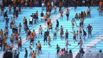 صورة أحداث شغب تؤجل مباراة الترجي والأهلي- (صور)