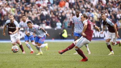 صورة مانشستر يونايتد يفوز بصعوبة على ويستهام في الدوري الإنكليزي
